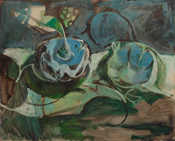 John Walter Wolseley (Australian, born 1938) Green still life