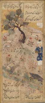 Four illustrated leaves from a manuscript of the Matla' al-anwar of Amir Khusraw Dehlavi Turkman School, circa 1500(4)