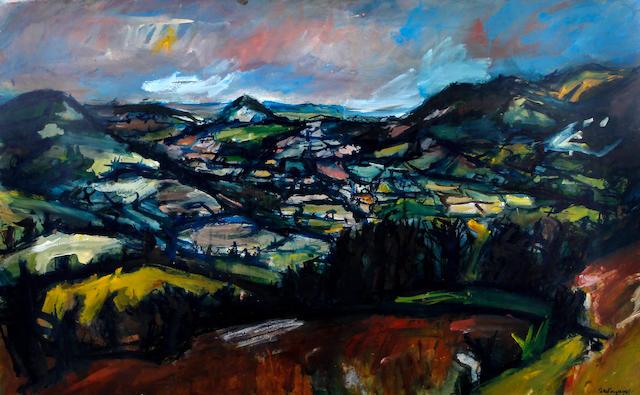 Peter Prendergast (British, 1946-2007) 'Usk Valley'