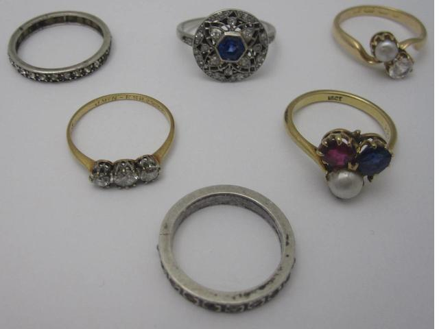 A collection of rings (6)