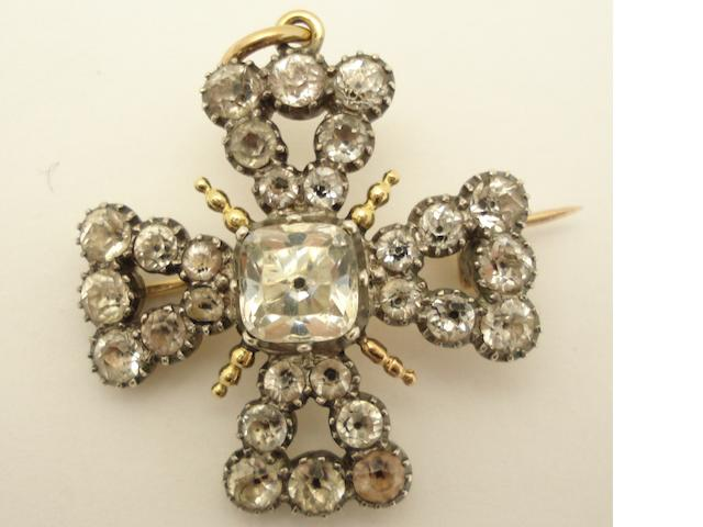 A 19th century paste brooch