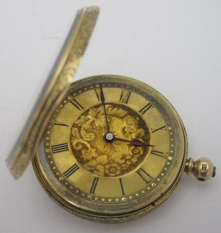 A lady's early 20th century fob watch, by Andre Mathey