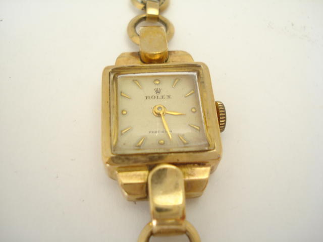 A lady's mid 20th century 9ct gold 'Precision' wristwatch, by Rolex