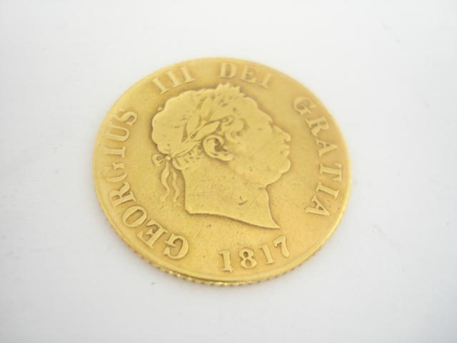 A half sovereign Dated for 1817