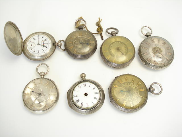 A collection of pocket watches (7)