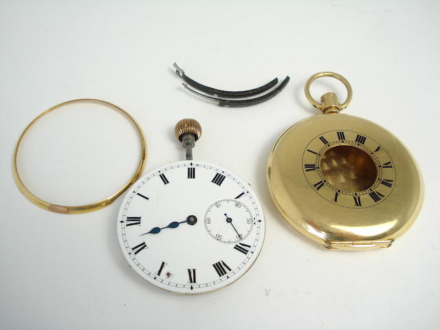 A gentleman's half-hunter pocket watch, by Mobilia