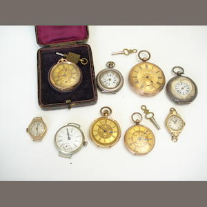 A collection of pocket watches