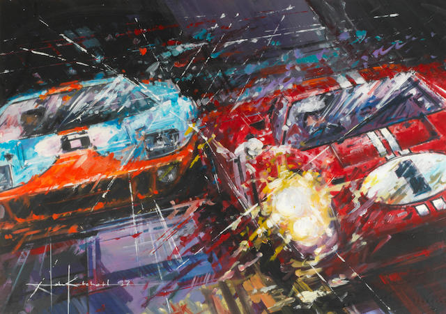 John Ketchell (1944- ); 'Ford vs Ferrari',