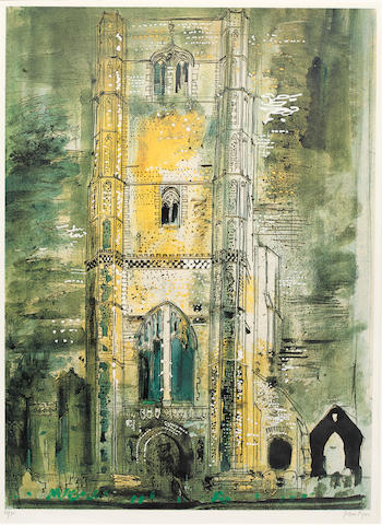 John Piper (British, 1903-1992) Wymondham, Norfolk colour screenprint, signed in pencil and numbered 16/75, 760 x 555 mm. (29 7/8 x 21 5/8 in.) (PL.)