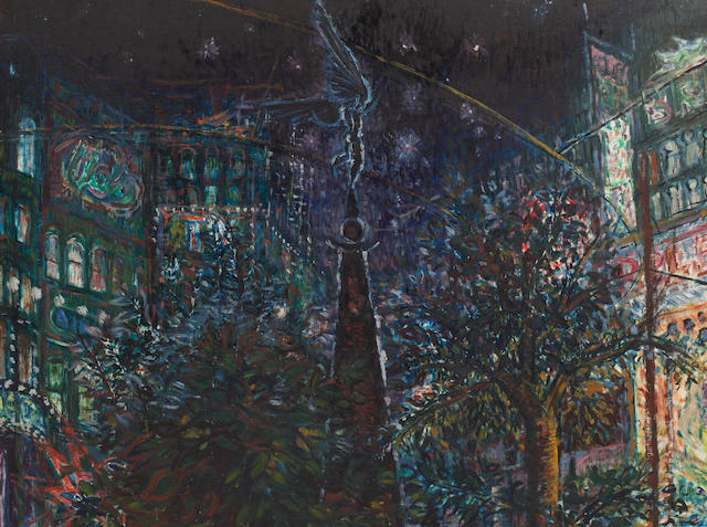 Peter Snow (1927-2008) Place de Brouhere; and Hague at night