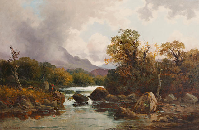 John Horace Hooper (British, fl.1885-1899) River landscape