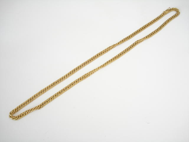 An 18ct gold necklace, by Garrard & Co