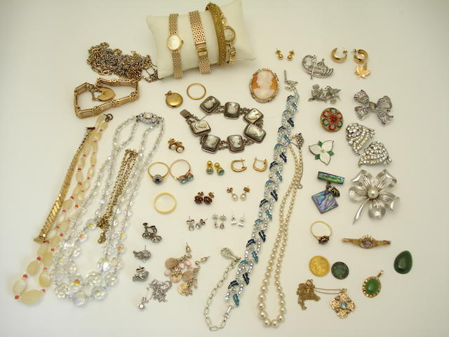 A collection of jewellery and watches