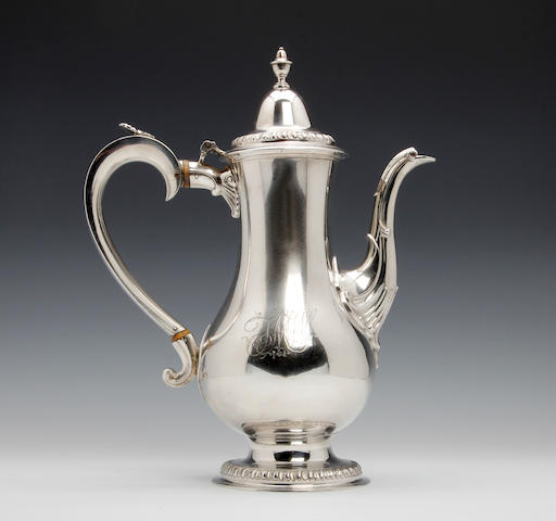 Silver coffee pot, George III