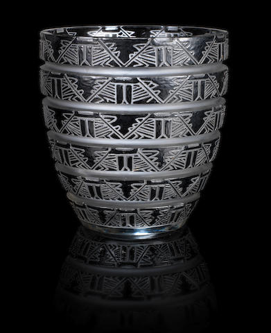 Lalique Lagamar vase (internal bruise)