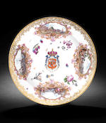 An important Meissen armorial saucepan, cover and stand (Reintl), circa 1745