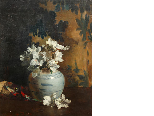 Philip Sidney Holland (British, 1855-1891) The Chinese vase