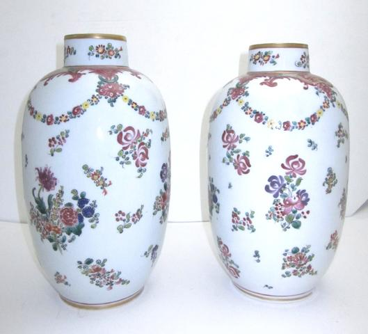 A pair Samson famille rose style vases Circa 1900