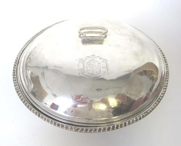 An early George III silver circular entrée dish and cover by Thomas Heming, London 1765