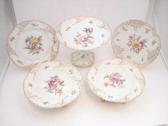A Nymphenburg porcelain dessert service Early 20th century
