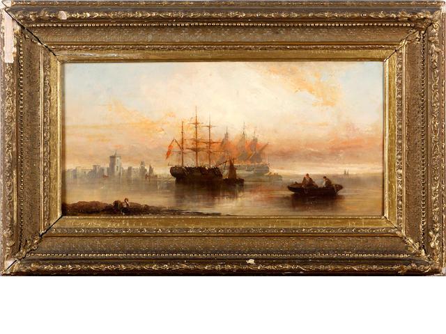 William McAlpine (British, 19th Century) Shipping scenes