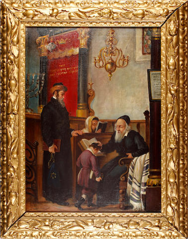J. Scharl (German, late 19th century) after Moritz Daniel Oppenheim (German, 1800-1882) The Rabbi's blessing