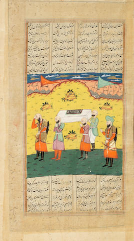 Firdausi, Shahanama, The Book of Kings, an illuminated manuscript of Persian poetry, in two volumes, illustrated with 38 miniatures North India, probably Kashmir or Punjab, circa 1840(2)
