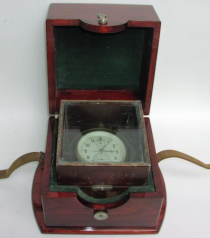 A boxed 20th Century Russian ship's chronometer,