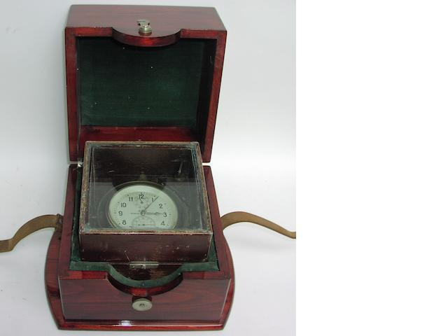 A boxed 20th century Russian ship's chronometer