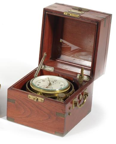 A boxed late 20th century Russian ship's chronometer
