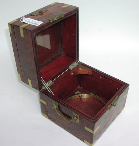 A ship's chronometer box,