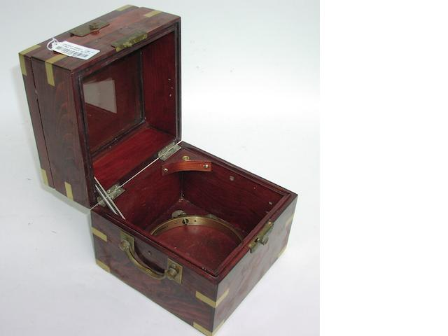 A ship's chronometer box,