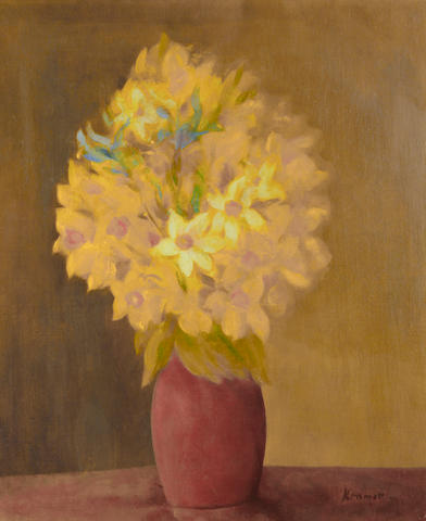 Jacob Kramer (British, 1892-1962) Vase of flowers