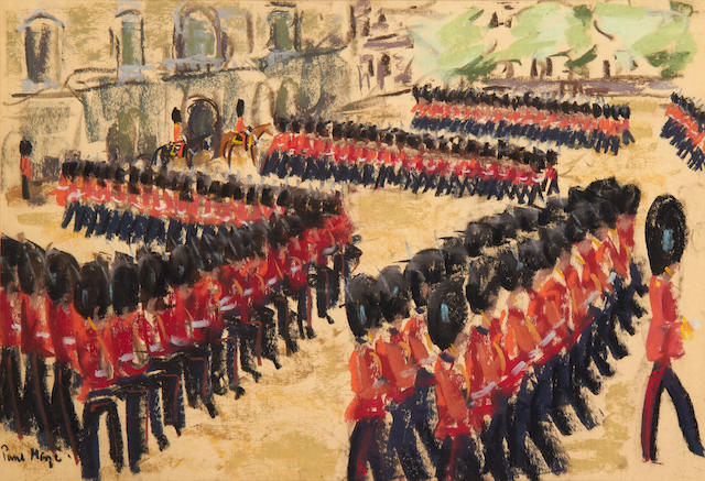 Paul Lucien Maze (French, 1887-1979) Horseguards