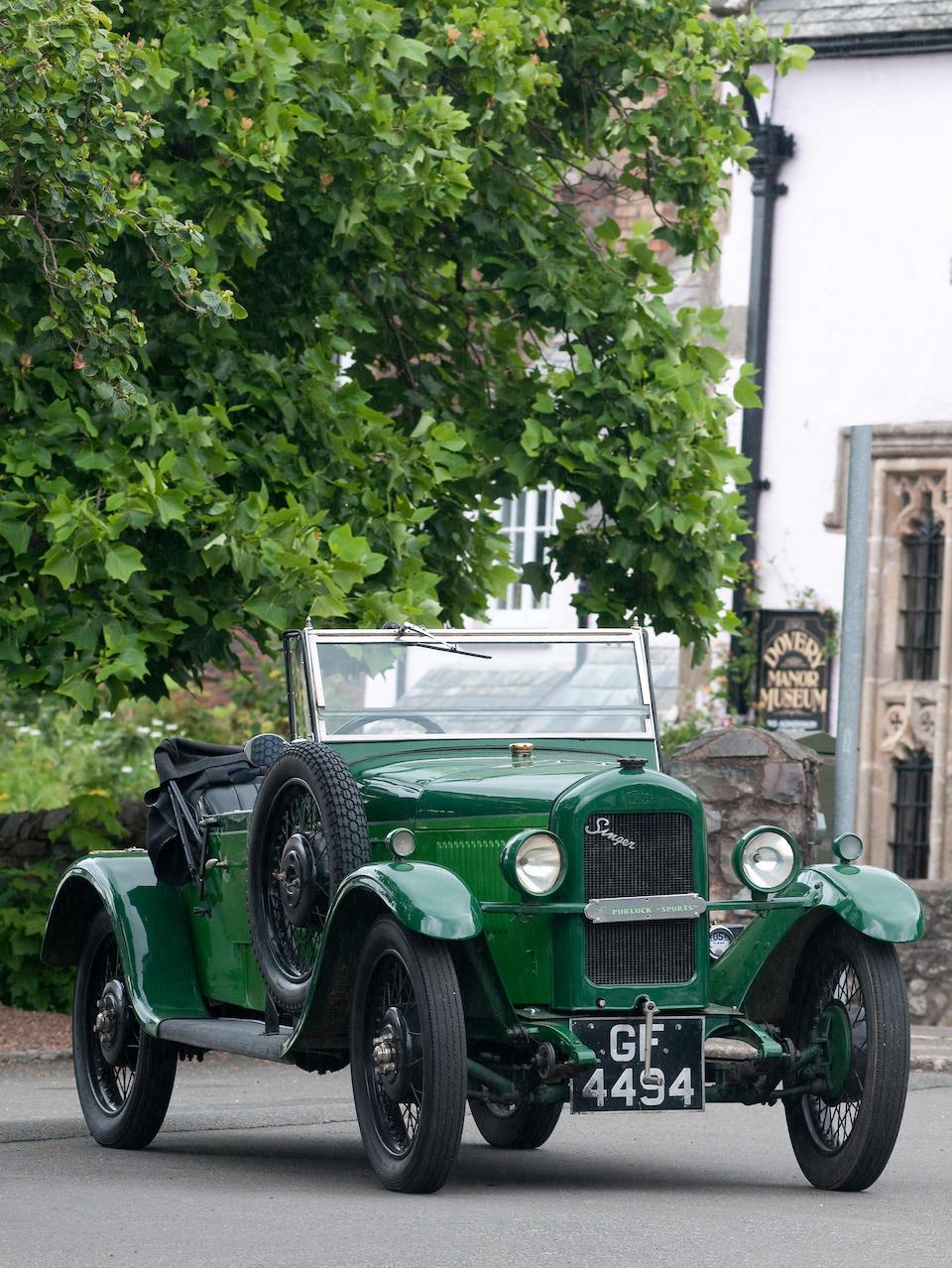 1930 Singer 8hp 'Porlock' Sports Junior  Chassis no. 18989 Engine no. 24113