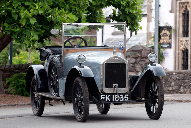 One of only ten known survivors,1922 Wolseley Seven Tourer  Chassis no. 50218 Engine no. 216A/2673