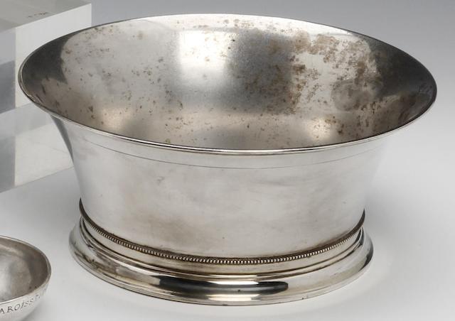 A Danish silver circular bowl by Anton Michelsen, assay master Jens Sigsgaard, Copenhagen 1935