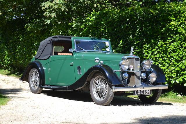 1936 Alvis Silver Eagle Drophead Coupé  Chassis no. 13520