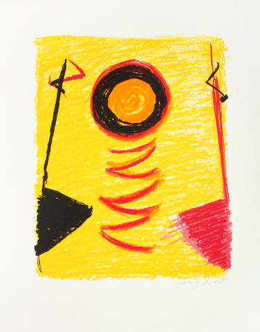 Sir Terry Frost R.A. (British, 1915-2003) Orange Sun Newlyn (Kemp 206) Screenprint in colours, 2000, on Arches, signed in pencil, a proof aside from the numbered edition of 100, printed by Coriander Studios, London, published by Coriander Studios and the Royal Academy of Arts, London, 640 x 505mm (25 x 20in) (SH) (unframed)