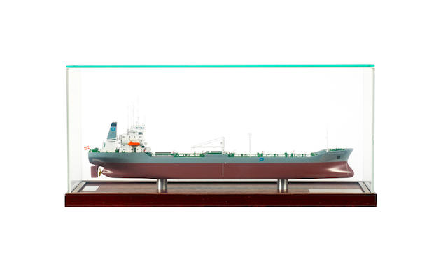 A Builder's model of the Tanker Burwain Castor 1991 22x7x10ins. (56x18x25cm)