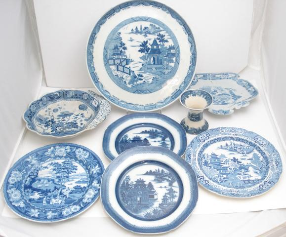 A collection of tranfer printed earthenwares, Early 19th century,