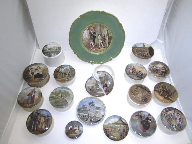 A collection of pot lids Circa 1900