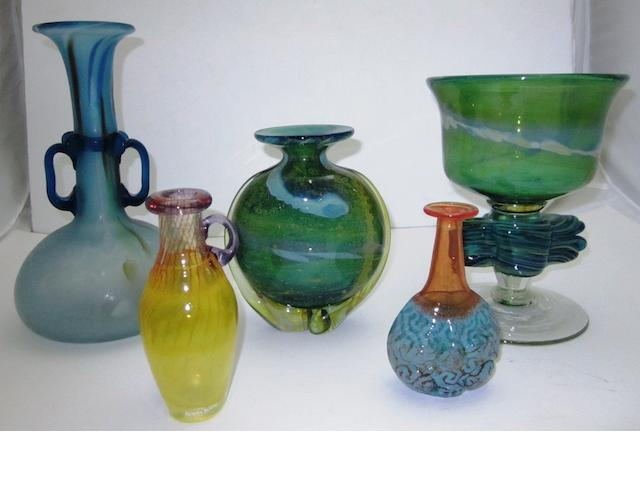 A collection of studio glass 20th century