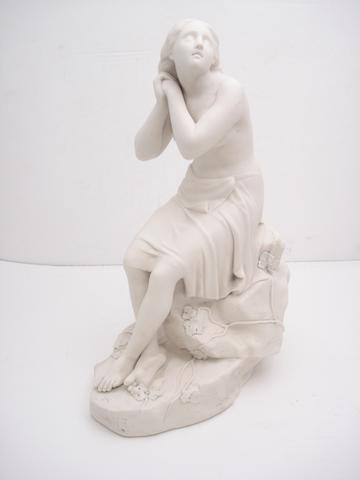 A parian figure of a lady Late 19th century