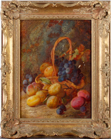 Vincent Clare (British, 1855-1930) Still life of fruit