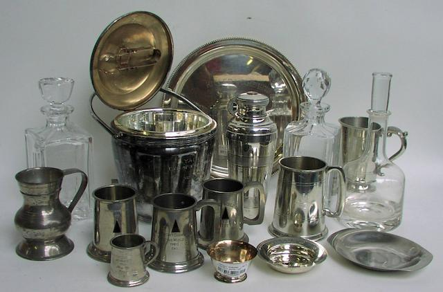 A collection of yachting trophies won by Sir John Oakeley Bt.  16