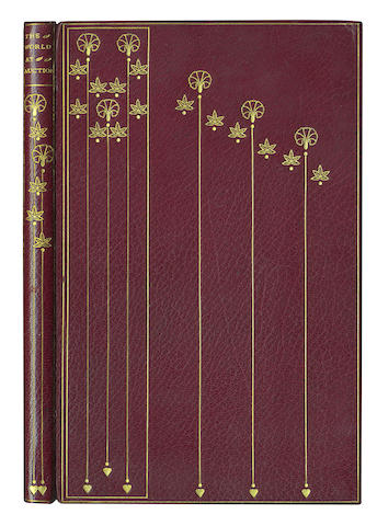"BRADLEY (KATHERINE HARRIS)] ""Michael Field"" The World at Auction, LIMITED TO 210 COPIES, Hampstead Bindery binding, 1898"