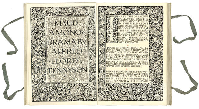KELMSCOTT PRESS TENNYSON (ALFRED) Maud, a Monodrama, LIMITED TO 500 COPIES, 1893