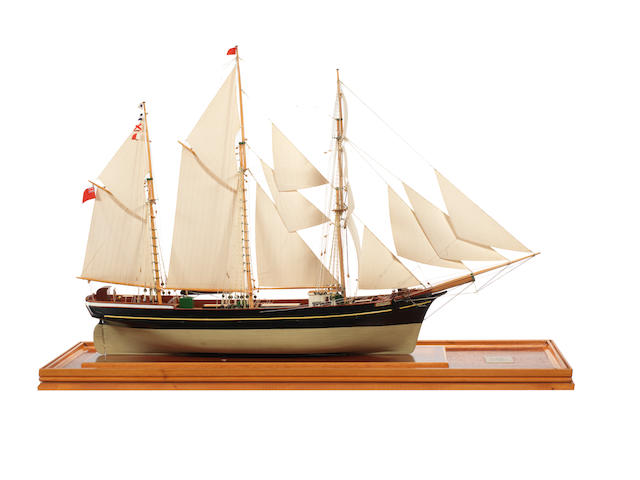 A good model of the Barquentine Waterwitch 1871. 32x12x22ins. (82x31x56cm)