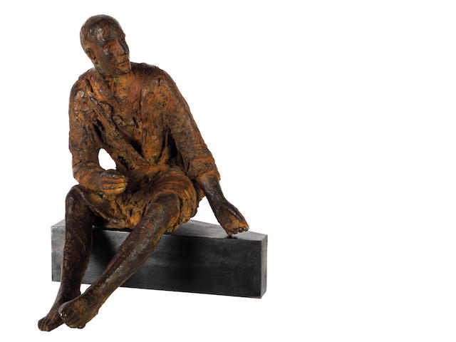 Hanneke Beaumont (Dutch, born 1947) Seated man 29.5cm (11 1/2in)(height)